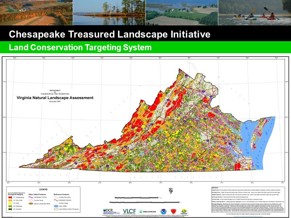 Chesapeake Treasured Landscape Initiative Land Conservation Targeting System