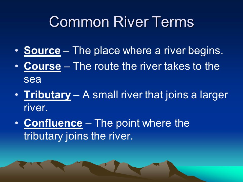 Landforms of the Mature Stage Flood Plain A flood plain is the flat area of land on either side of the river.