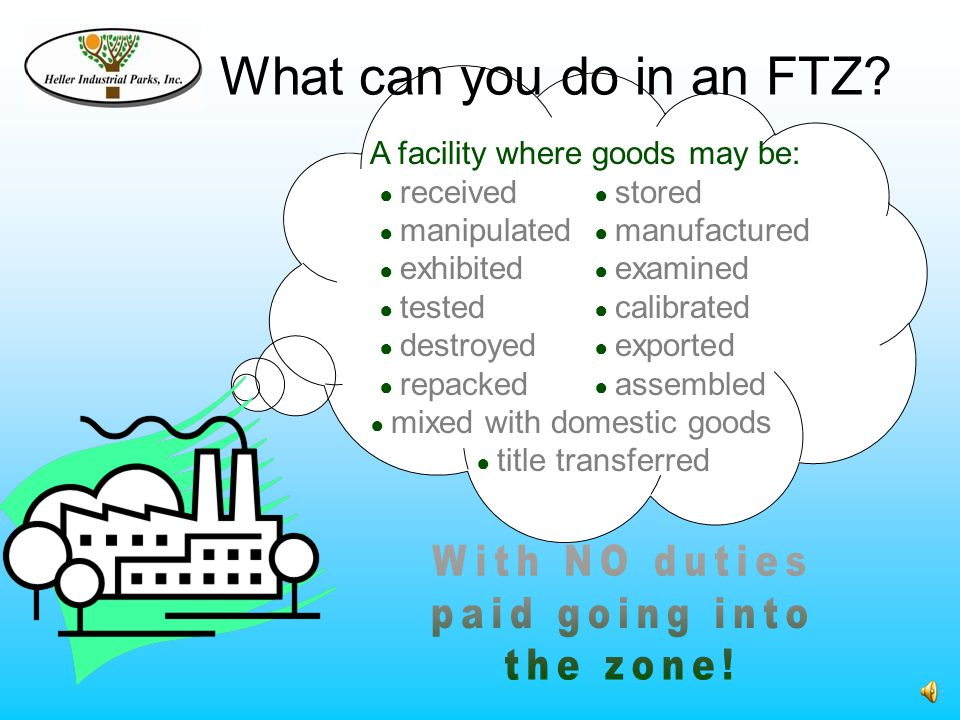 What can you do in an FTZ.