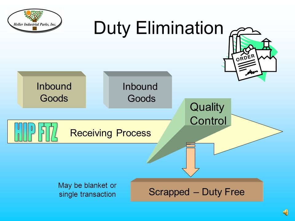FTZ Cost/Benefit Analysis Warehousing & Distribution Benefits – What you save Merchandise Processing Fee Avoidance (10 shipments/wk at max.).21% of value vs.