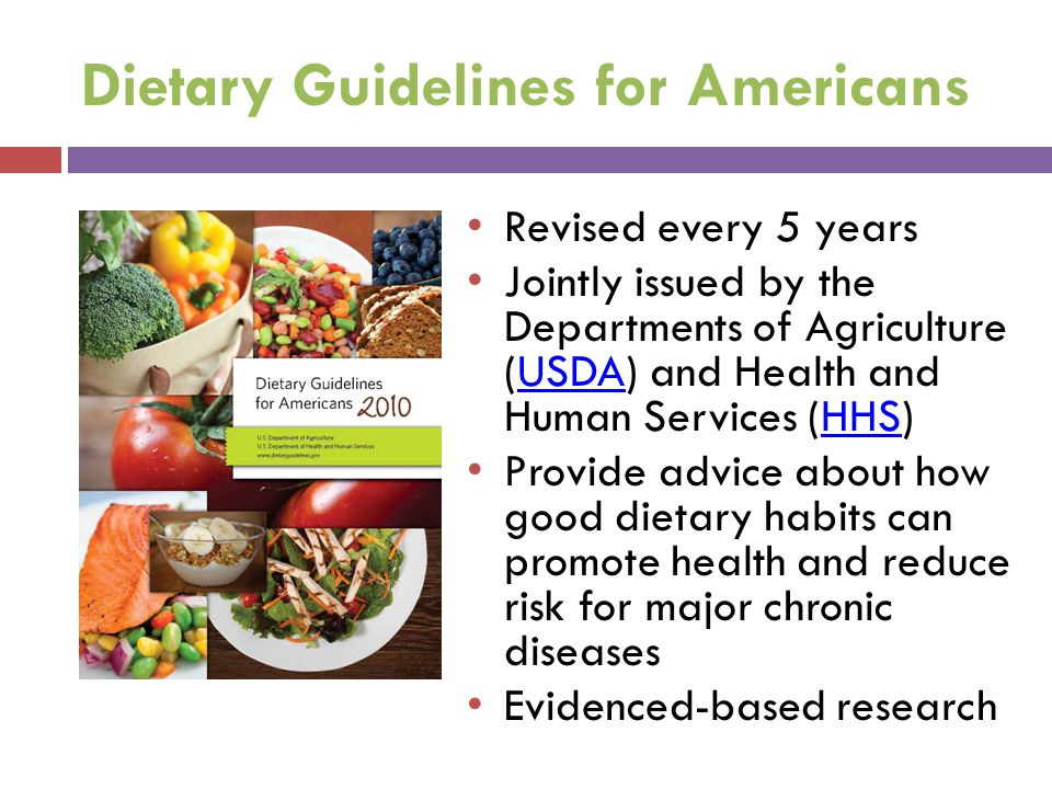 Overview of Recommendations Reduce incidence and prevalence of overweight and obesity Reduce overall calorie intake Focus on consuming nutrient-dense foods and beverages Increase physical activity