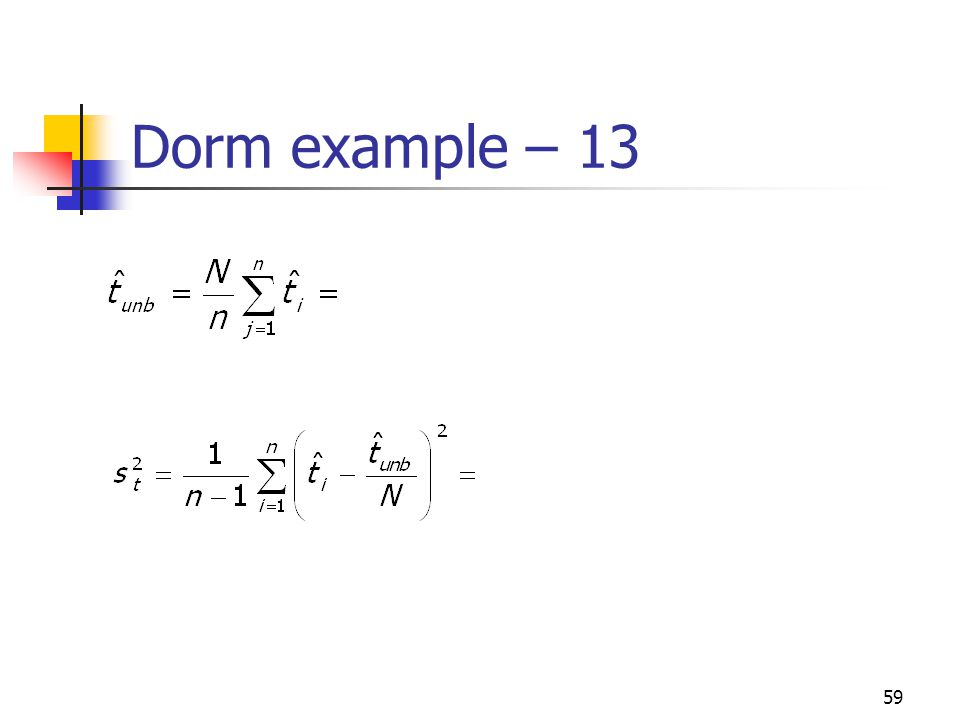 59 Dorm example – 13