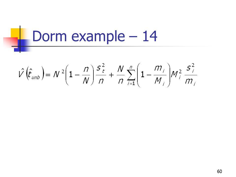 60 Dorm example – 14