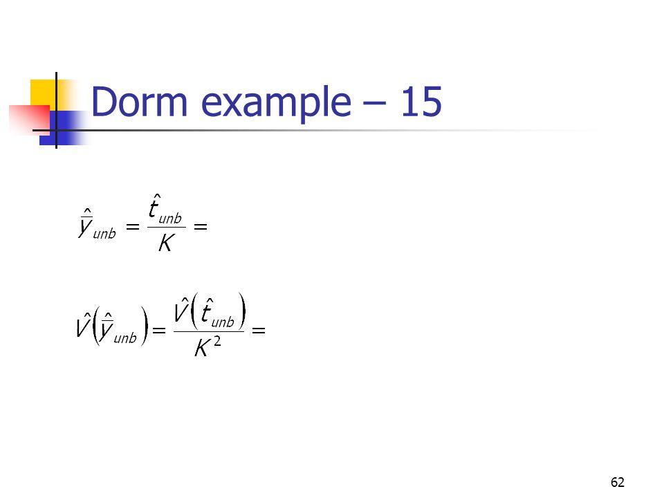 62 Dorm example – 15