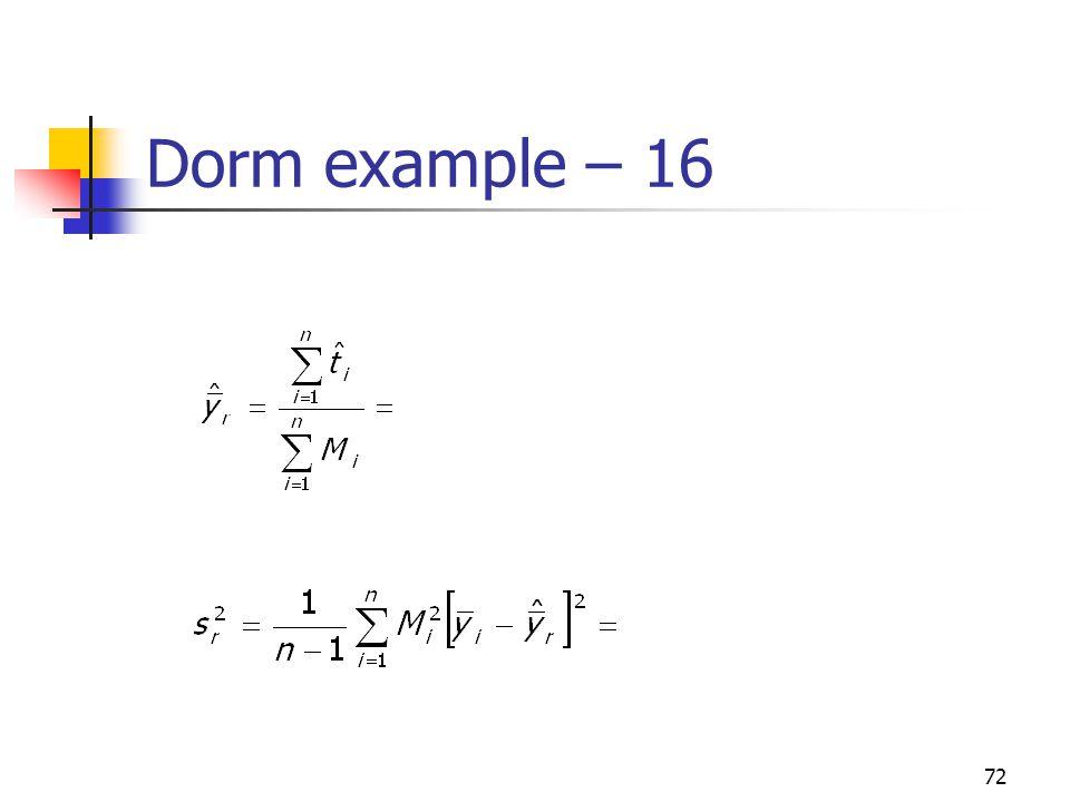 72 Dorm example – 16