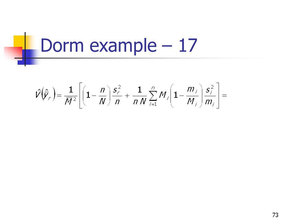 73 Dorm example – 17