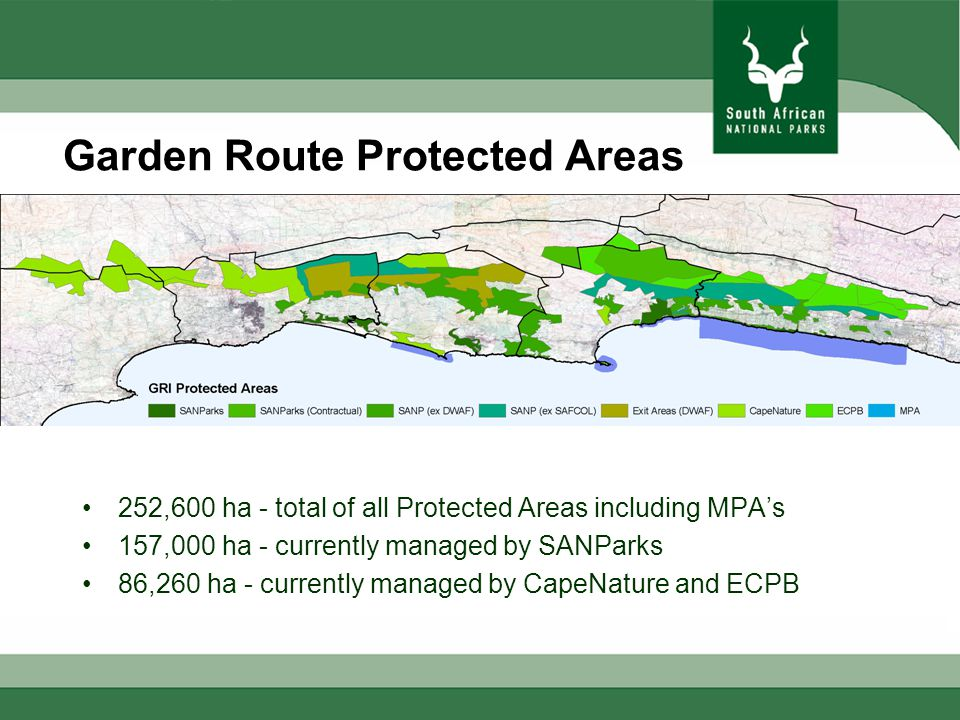 Area currently managed by SANParks