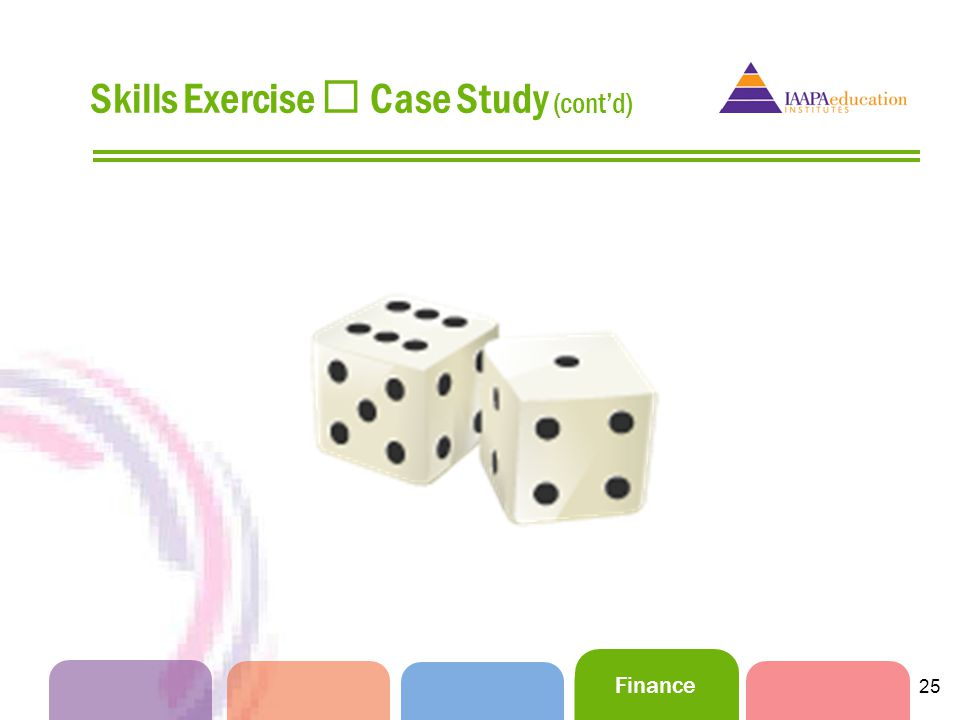 Finance 25 Skills Exercise Case Study (contd)