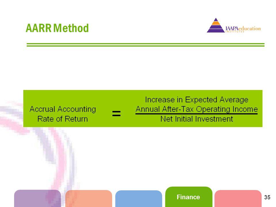 Finance 35 AARR Method