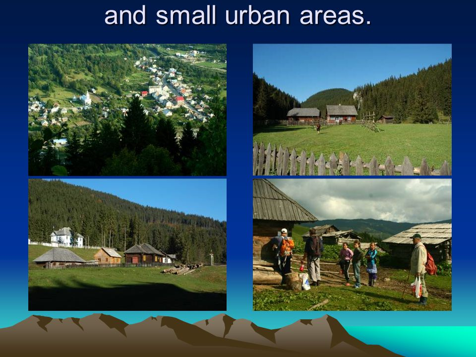 and small urban areas.