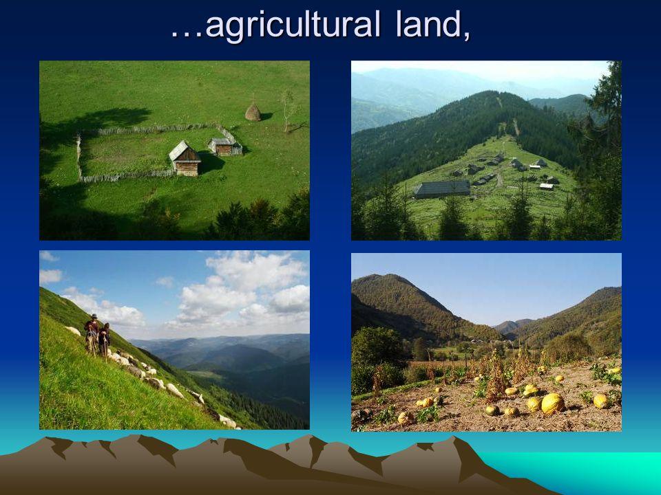 …agricultural land,