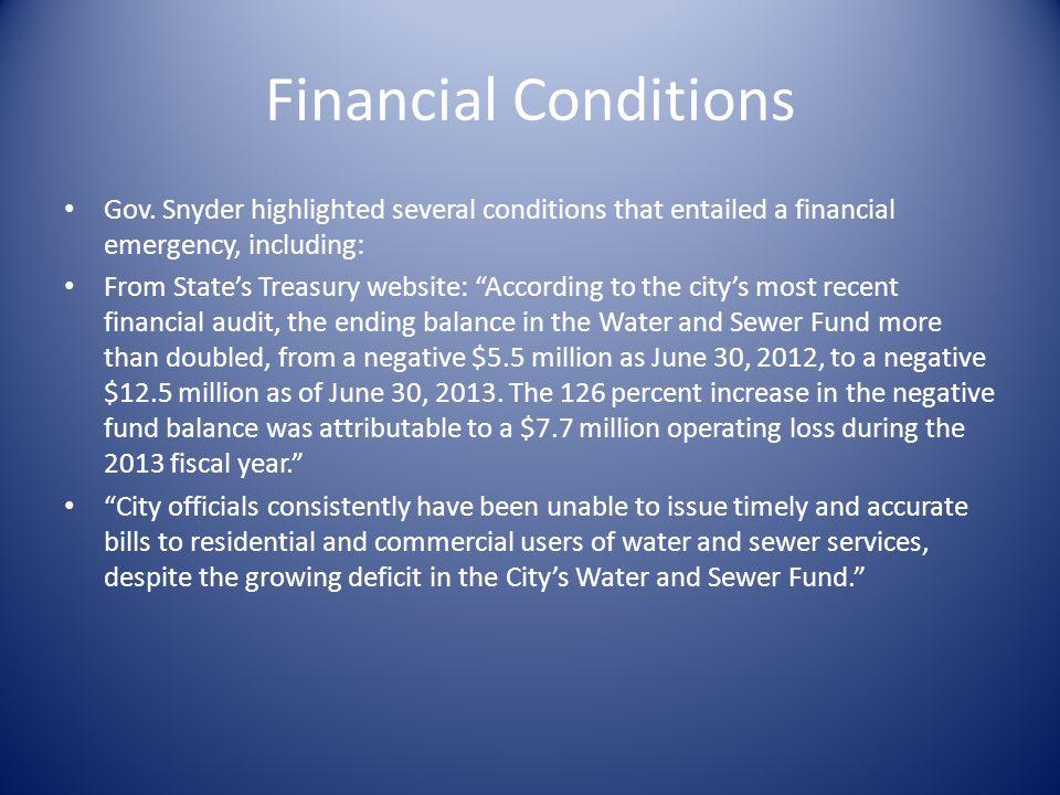 Financial Conditions Gov.