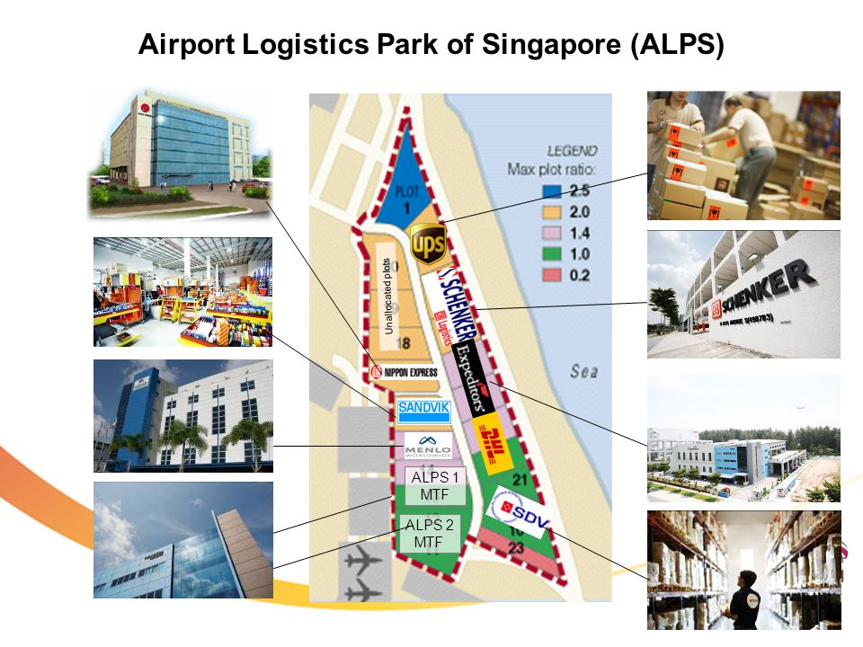 ALPS 1 MTF ALPS 2 MTF Unallocated plots Airport Logistics Park of Singapore (ALPS)