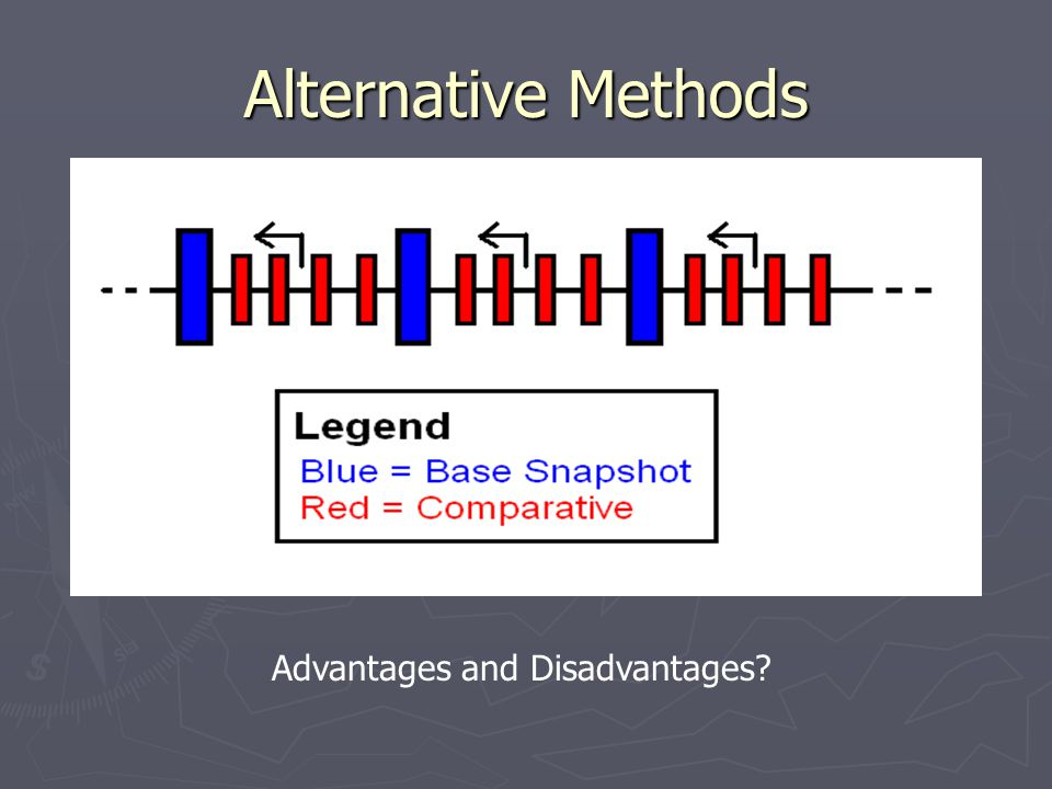 Alternative Methods Advantages and Disadvantages