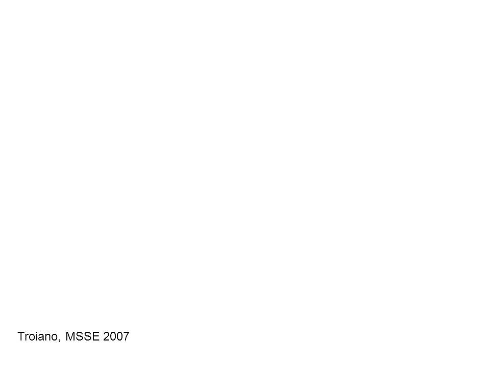Troiano, MSSE 2007