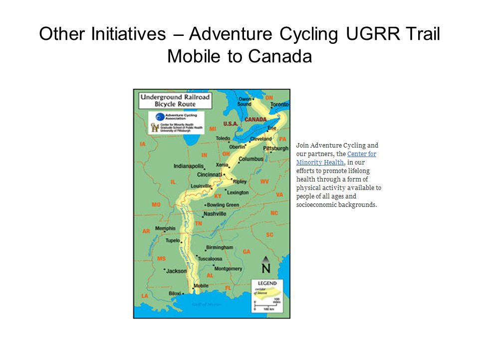Other Initiatives – Adventure Cycling UGRR Trail Mobile to Canada