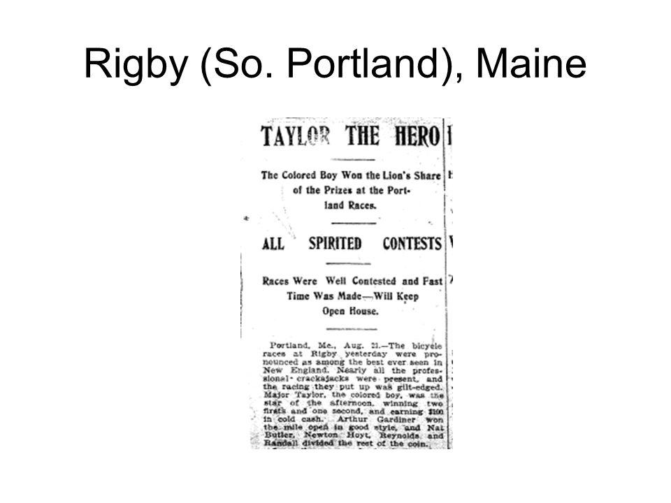 Rigby (So. Portland), Maine