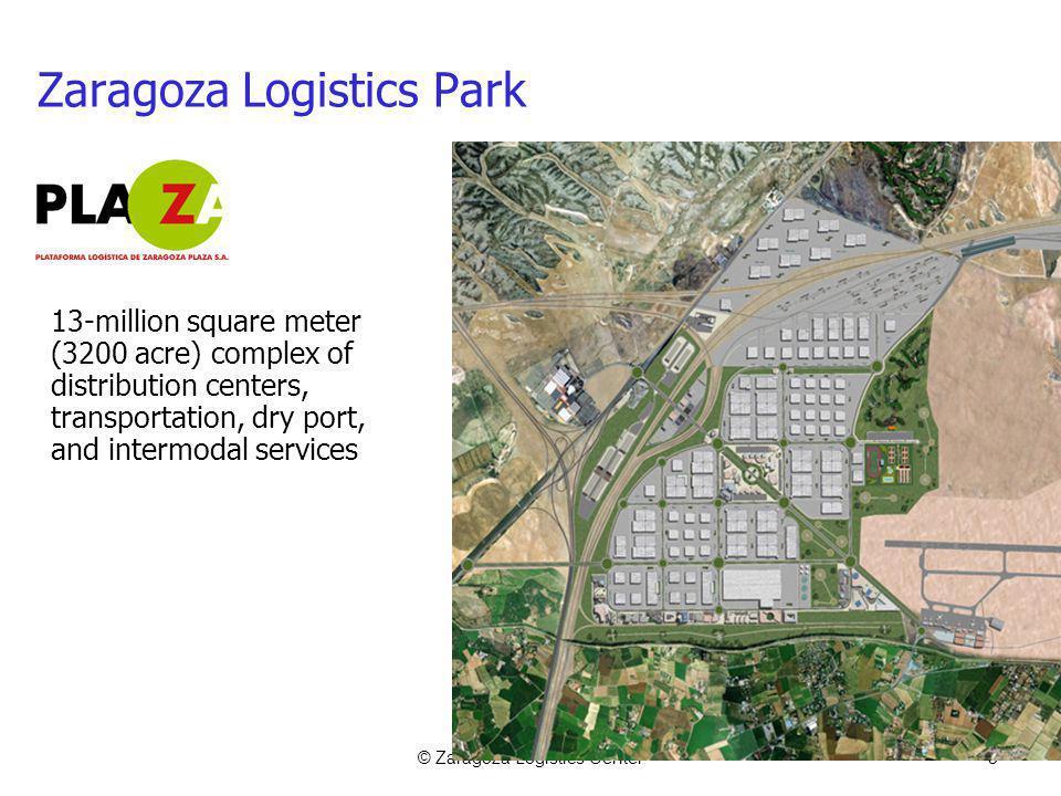 © Zaragoza Logistics Center3 Zaragoza Logistics Park 13-million square meter (3200 acre) complex of distribution centers, transportation, dry port, and intermodal services