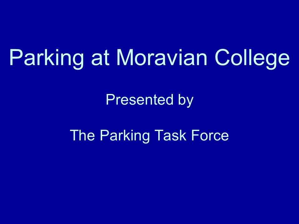 The Charge for the Task Force The Parking Task Force is charged with developing recommendations for ways to respond to the parking challenges associated with (1) the proposed Hurd Campus project and (2) a campus of 1600 students.