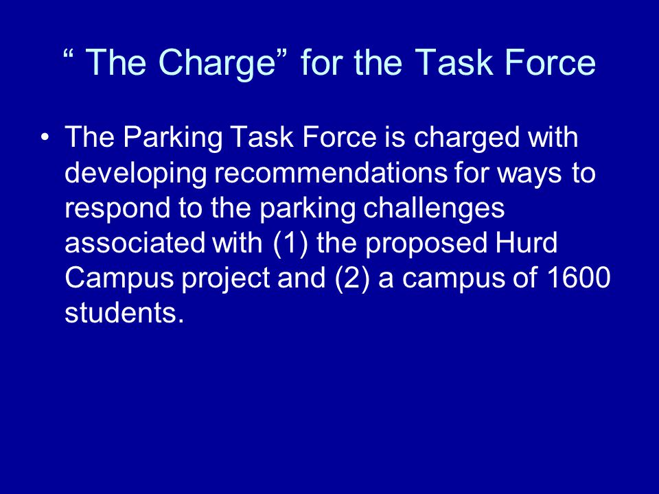 Other Recommendations – Contd Explore adding parking lot adjacent to Sig Ep fraternity –Creates approximately 25 additional spaces –NOT consistent with Master Plan (this space has been designated as part of the Athletic Master Plan) –Fund through increased fees