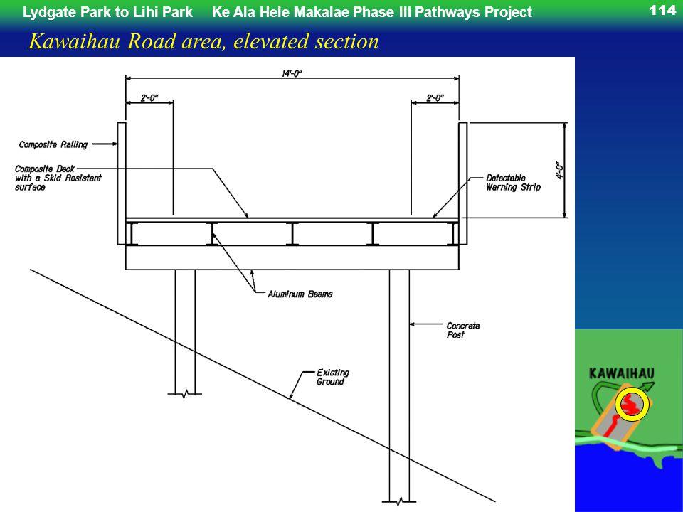 Lydgate Park to Lihi ParkKe Ala Hele Makalae Phase III Pathways Project 114 Kawaihau Road area, elevated section
