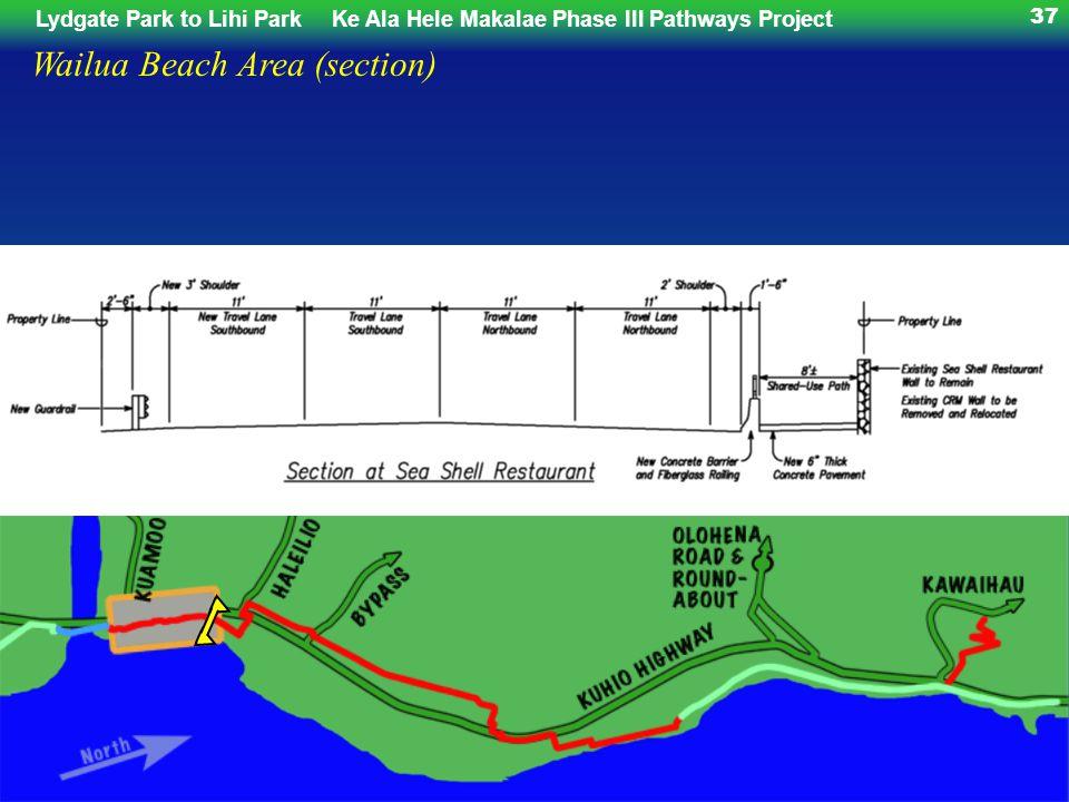 Lydgate Park to Lihi ParkKe Ala Hele Makalae Phase III Pathways Project 37 Wailua Beach Area (section)
