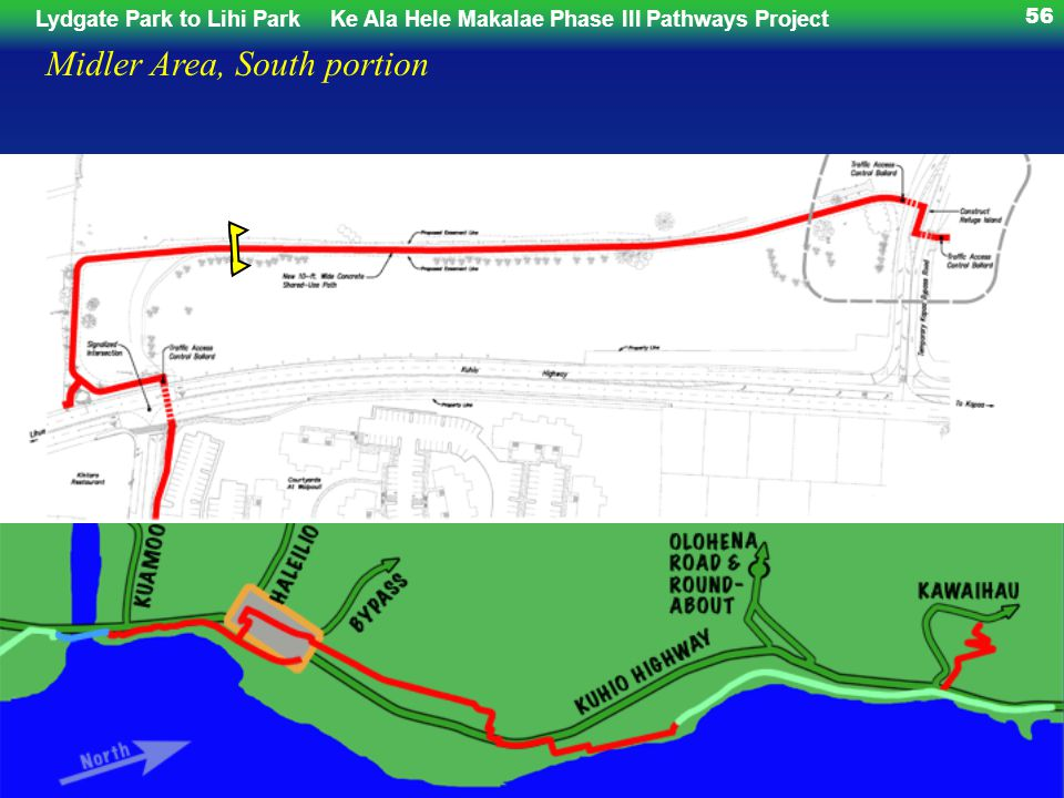 Lydgate Park to Lihi ParkKe Ala Hele Makalae Phase III Pathways Project 56 Midler Area, South portion