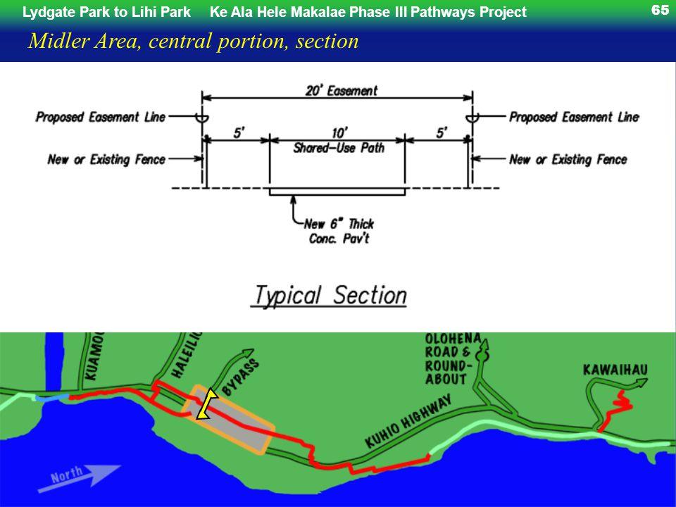 65 Midler Area, central portion, section