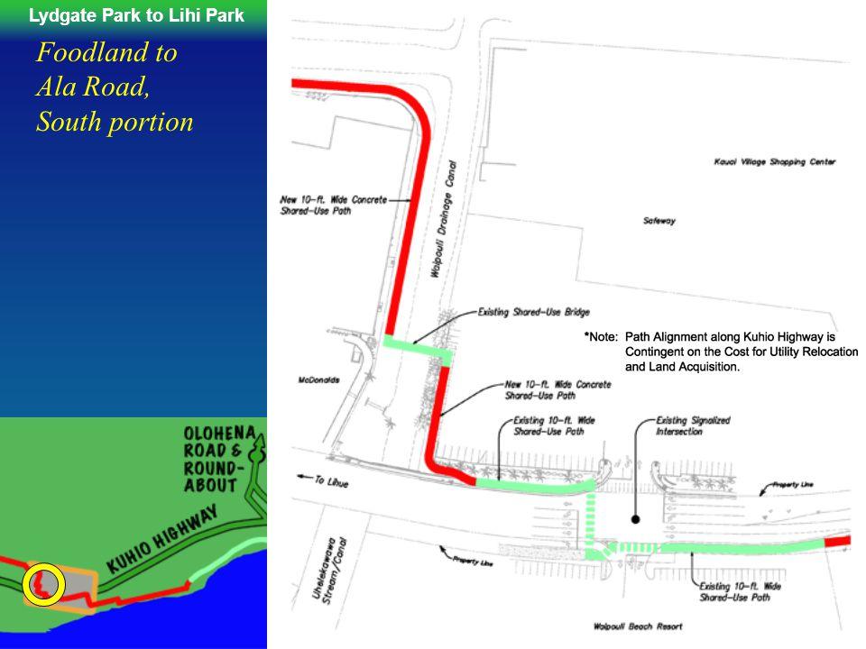 Lydgate Park to Lihi ParkKe Ala Hele Makalae Phase III Pathways Project 72 Foodland to Ala Road, South portion