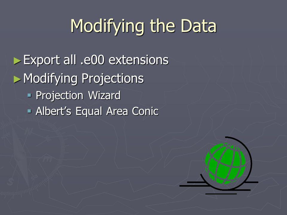 Modifying Data Roads Roads Creating I-80 Creating I-80 Creating Exit 432 shapefile Creating Exit 432 shapefile Landuse Landuse