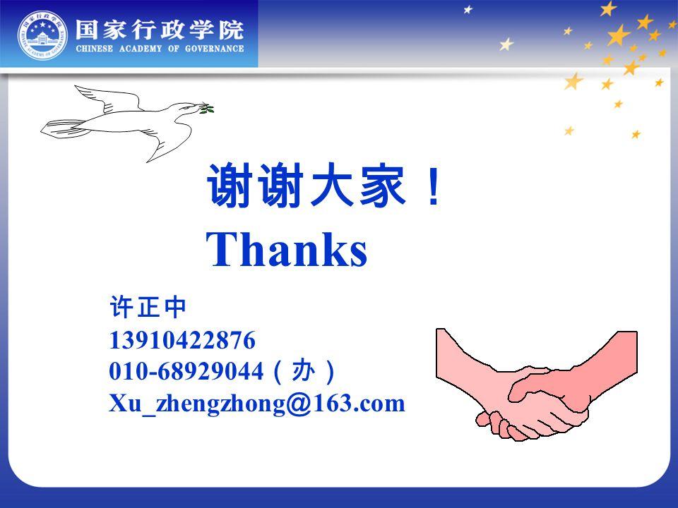 Thanks 13910422876 010-68929044 Xu_zhengzhong 163.com