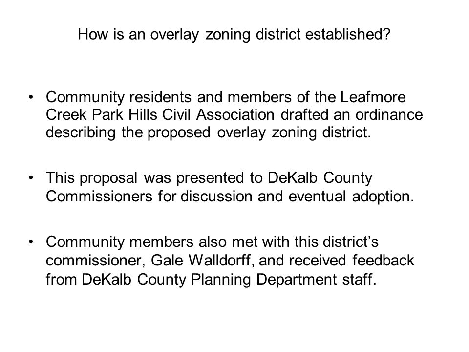 How is an overlay zoning district established.