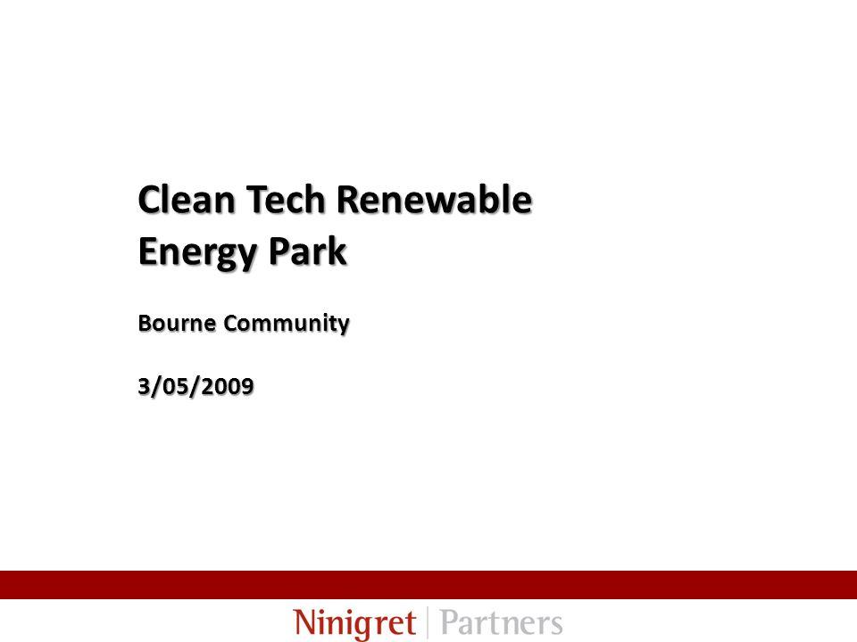 Clean Tech Renewable Energy Park Bourne Community 3/05/2009