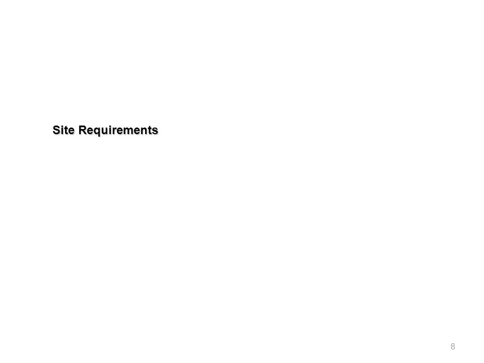Site Requirements 8
