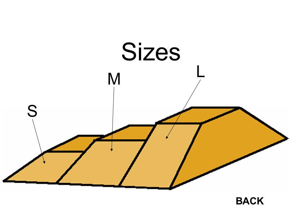 Sizes BACK S M L