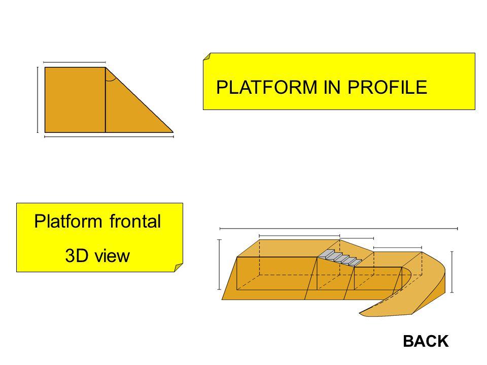 Platform frontal 3D view PLATFORM IN PROFILE BACK
