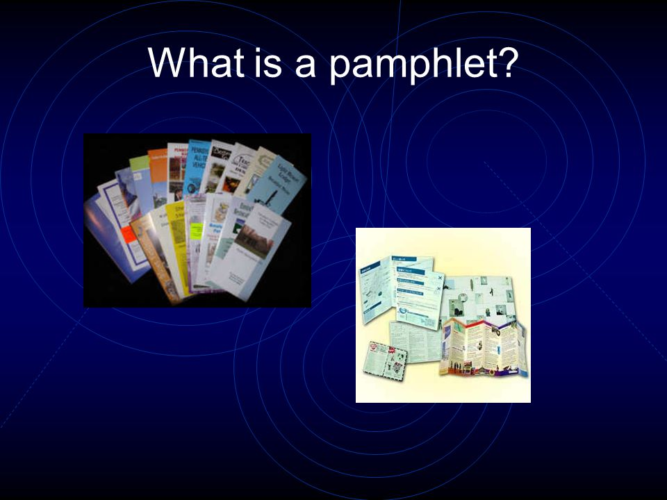 What is a pamphlet