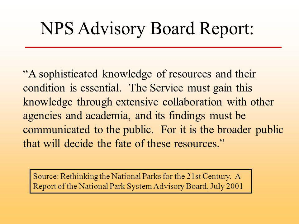 Source: Rethinking the National Parks for the 21st Century.