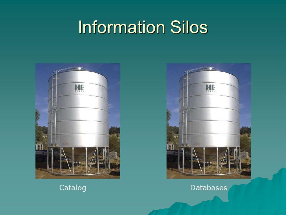 Information Silos CatalogDatabases