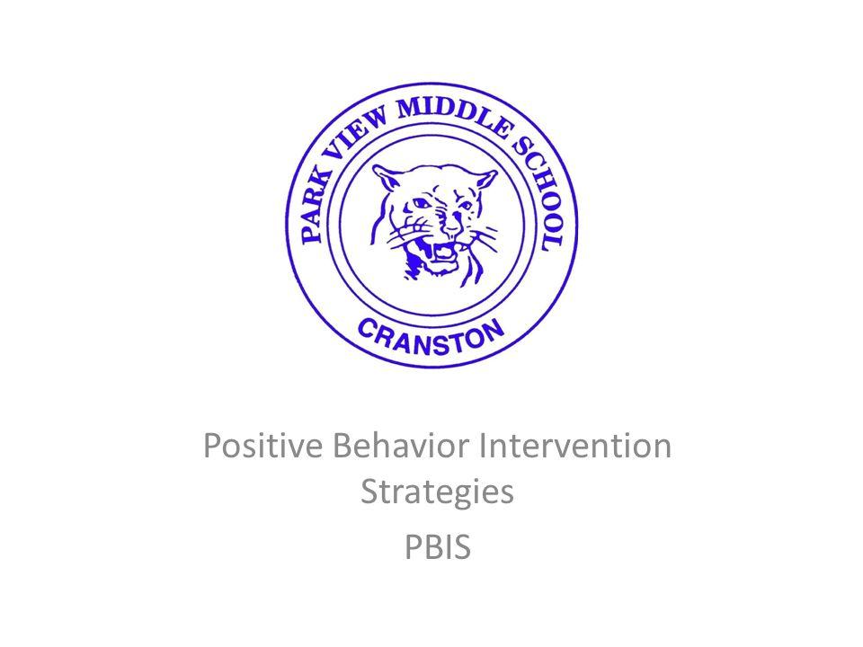 Positive Behavior Intervention Strategies PBIS