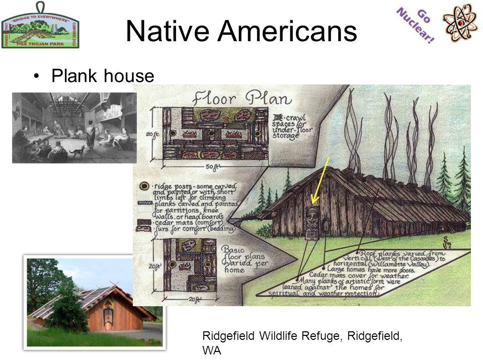 Native Americans Plank house Ridgefield Wildlife Refuge, Ridgefield, WA