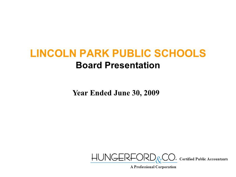 LINCOLN PARK PUBLIC SCHOOLS TOTAL EXPENDITURES PER PUPIL 2007-2008