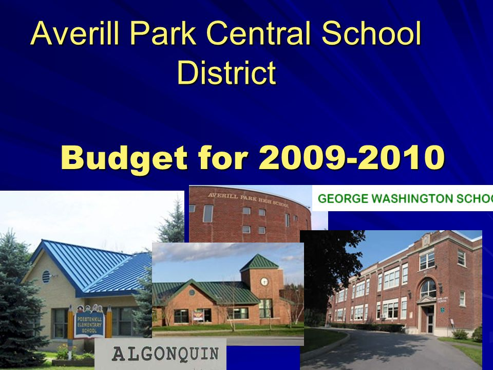 Averill Park Central School District Budget for 2009-2010