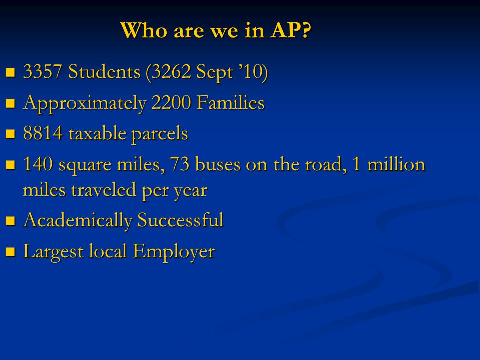 Who are we in AP.