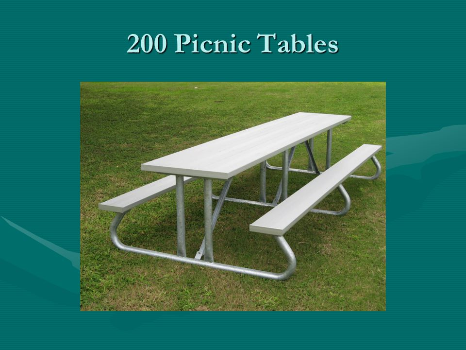 200 Picnic Tables
