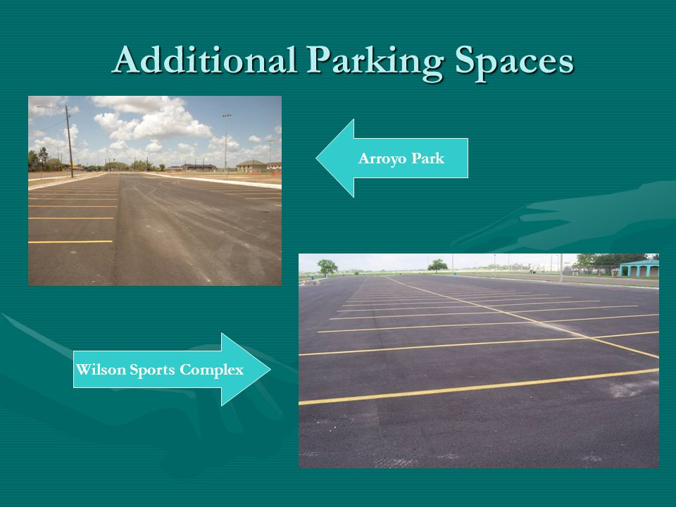Additional Parking Spaces Arroyo Park Wilson Sports Complex