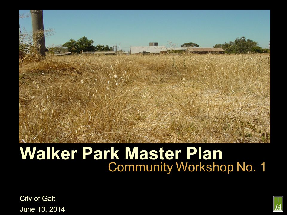 Walker Park Master Plan Community Workshop No.