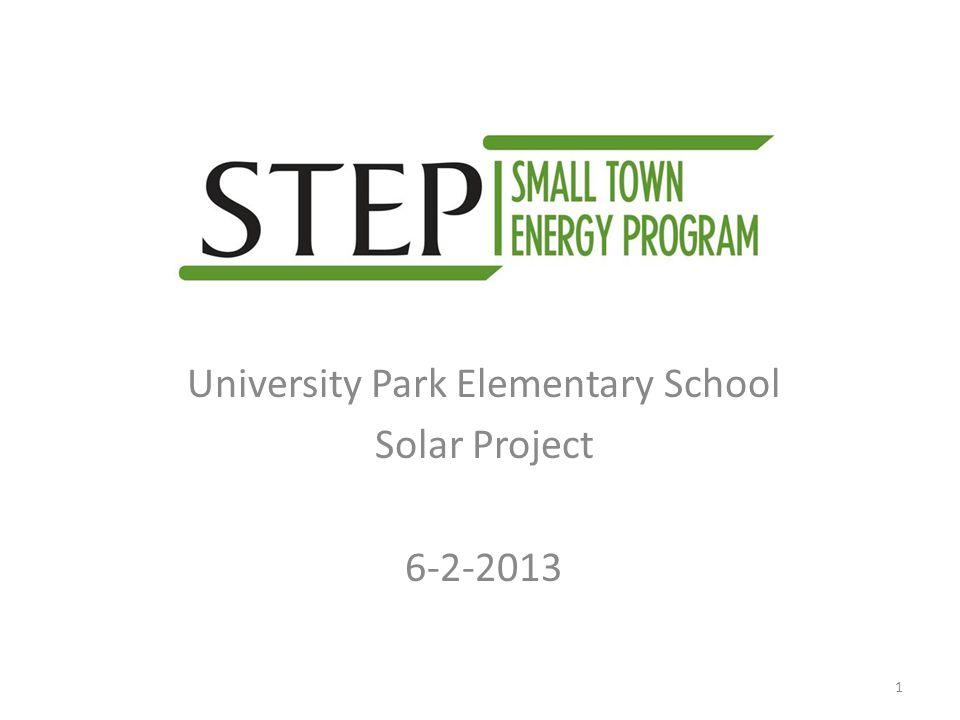 University Park Elementary School Solar Project 6-2-2013 1