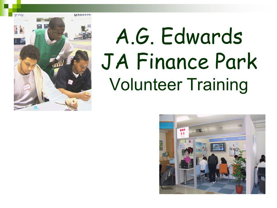 A.G. Edwards JA Finance Park Volunteer Training