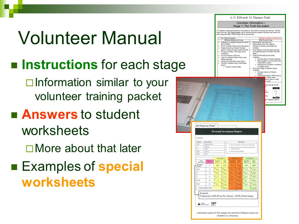 Checking Students Work In Volunteer Manual, look for NMI Verification page (its the same color as the student worksheet) Match students account number with their NMI It must be exact If student didnt hear their Lucky Chance Card called, youll need to give them the amount
